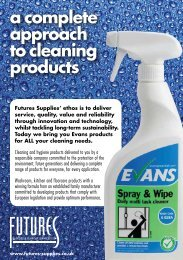 a complete approach to cleaning products - Futures Supplies ...