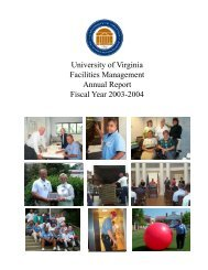 University of Virginia Facilities Management Annual Report Fiscal ...