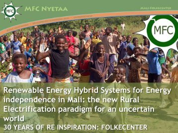 Renewable Energy Hybrid Systems for Energy independence in Mali
