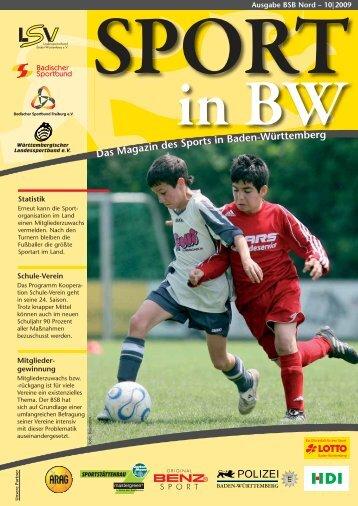 Download Sport in bw Nr. 10/09 - Badischer Sportbund Nord ev