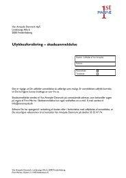 Klik her for at åbne skadesanmeldelse privat ulykke 2013 (PDF) - First