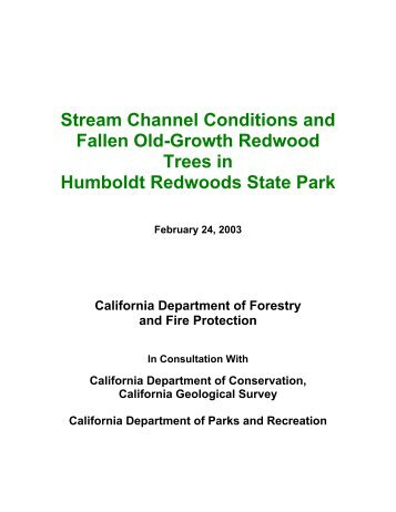 Humboldt Redwoods State Park Old-Growth Redwood - Cal Fire
