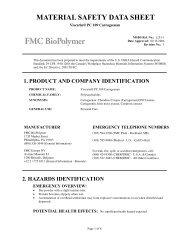 Viscarin® PC 109 Carrageenan - FMC Corporation
