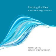 Catching the Wave - A Services Strategy for Ireland (PDF ... - Forfás