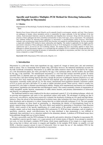 Specific and Sensitive Multiplex PCR Method for Detecting ...