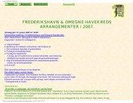 kalenderoplysninger - Frederikshavn og Omegns Havekreds