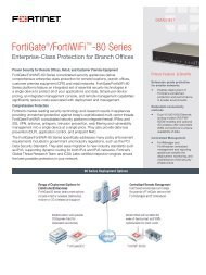 The Fortinet FS1 System-o