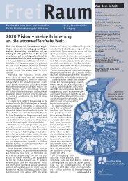 Freiraum 2006 - 4 (PDF) - Gewaltfreie Aktion Atomwaffen Abschaffen