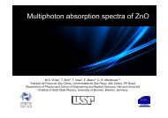 Multiphoton absorption spectra of ZnO p p p - USP