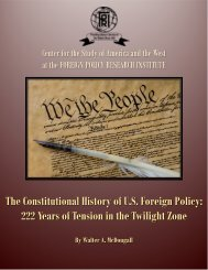 The Constitutional History Of U.S. Foreign Policy: 222 Years Of ...