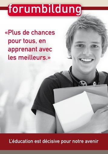« Plus de chances pour tous, en apprenant avec les meilleurs ...