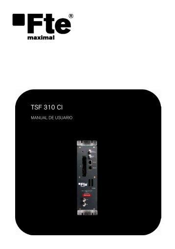 TSF 310 CI - FTE Maximal
