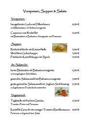 Vorspeisen, Suppen & Salate - Frankenradar