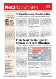 Gemeinsam zum Erfolg - DB Netz AG - DB Netze