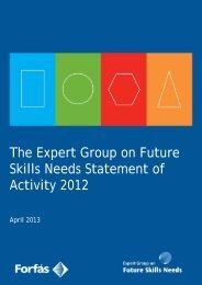EGFSN Statement of Activity (PDF, 29 pages , 416KB) - Skills Ireland
