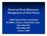 Head and Neck Melanoma: Management of Neck Nodes