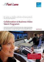 Collaboration & Business Video Talent Programm - Fast Lane