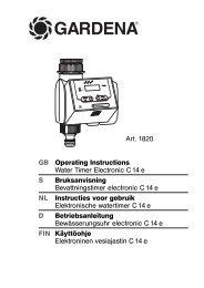 OM, Gardena, Water Timer Electronic C 14 e, Art 01820-28, 2008-04