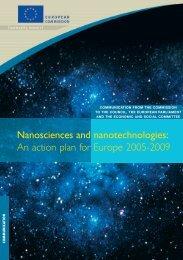 nanotechnologies: An action plan - European Commission - Europa
