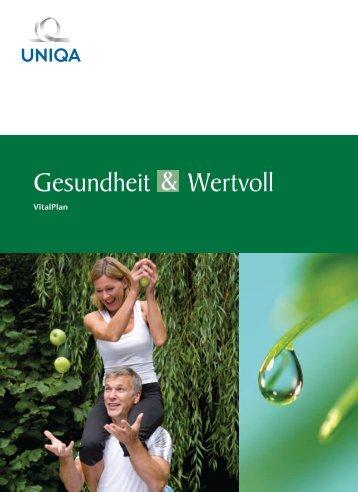Gesundheit & Wertvoll Vitalplan - Uniqa Versicherungen AG