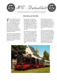 Datenblatt - Historische Eisenbahn Frankfurt