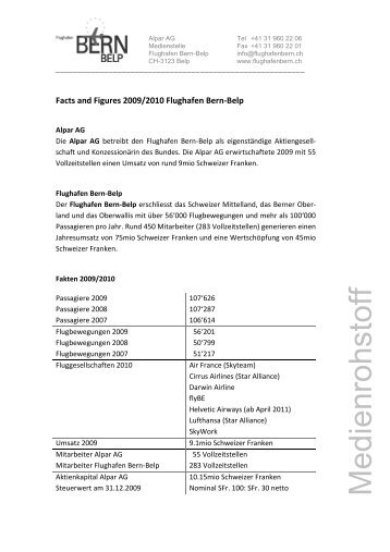 Facts and Figures 2009/2010 - Bern-Belp