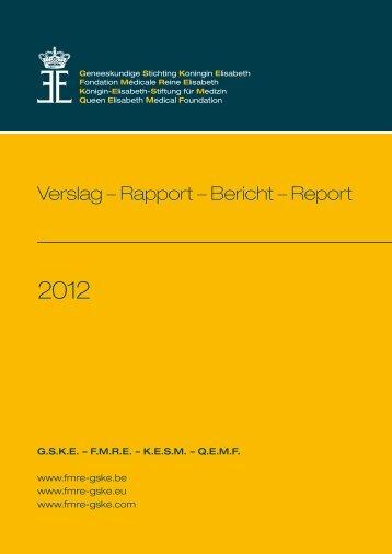 Verslag – Rapport – Bericht – Report - GSKE - FMRE