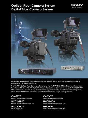 Optical Fiber Camera System Digital Triax Camera System - Sony