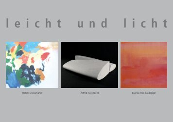Leichte und lichte - Galerie Weiertal