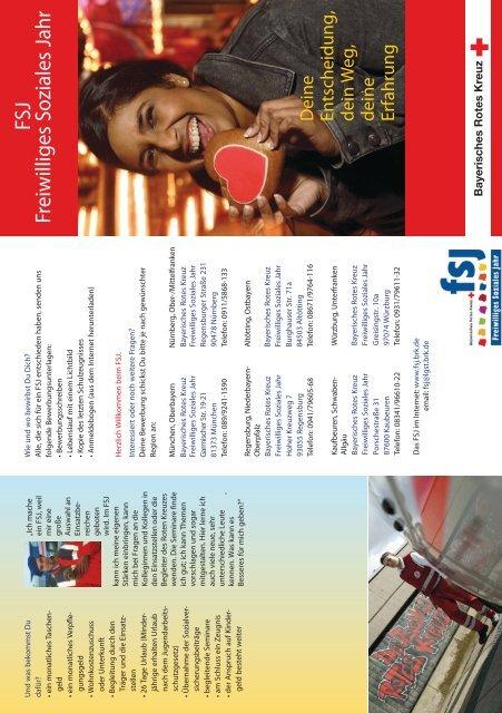 Der FSJ-Flyer - Freiwilliges Soziales Jahr beim Bayerischen Roten ...