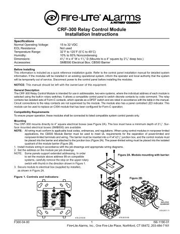 Ul 924 enclosed bypass shunt relay installation guide for use crf 300 relay control module installation fire lite alarms asfbconference2016 Gallery