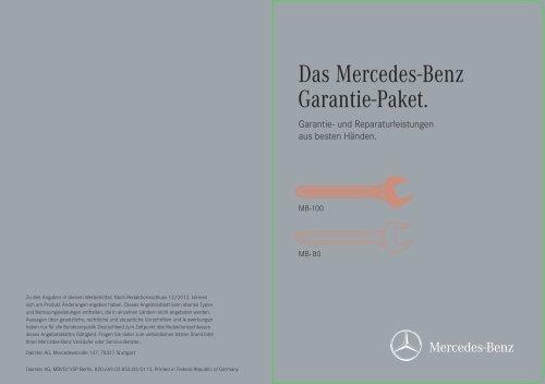 garantie-paket (mb-80) - mercedes-benz niederlassung frankfurt