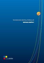 technisches Bestellformular technical orderform - Fleischerforum