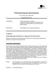 Protokoll der 4. Sitzung vom 6.3.2013 - Gemeinde Gamprin