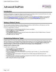 Advanced EndNote - Galter Health Sciences Library - Northwestern ...