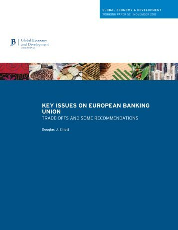 key issues on european banking union - Financial Risk and Stability ...