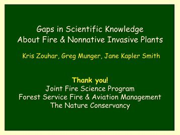 Invited Paper/Presentation - Joint Fire Science Program