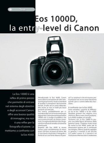 Eos 1000D, la entry-level di Canon - Fotografia.it