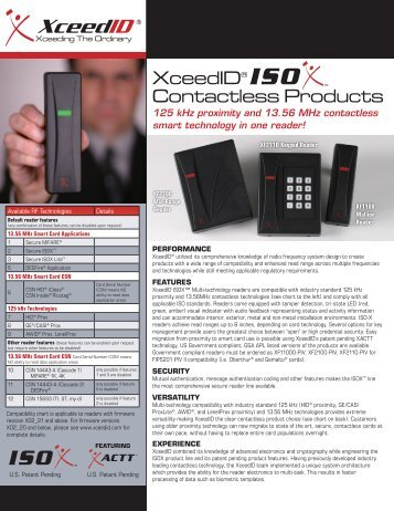 XceedID® Contactless Products - Galaxy Control Systems