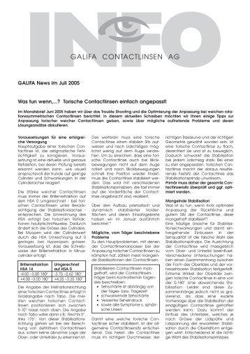 07_Juli 2005.pdf - Galifa Contactlinsen AG