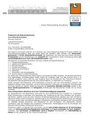 Cisco Networking Academy - Friedrich-List-Schule Karlsruhe