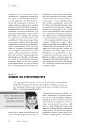 Internet und Demokratisierung - Neue Gesellschaft Frankfurter Hefte