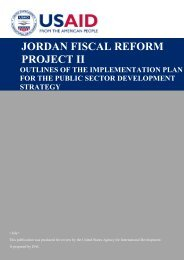 JORDAN FISCAL REFORM PROJECT II - Frp2.org