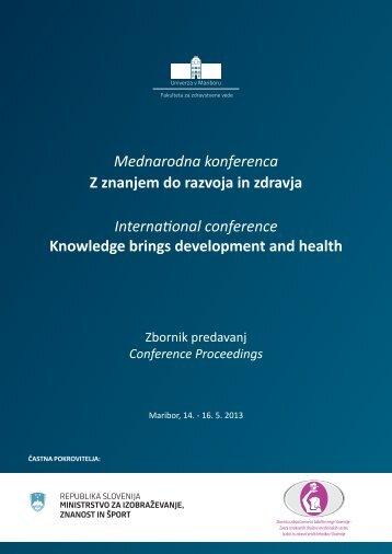 Zbornik predavanj - Fakulteta za zdravstvene vede - Univerza v ...
