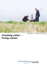 Creating value – living values - HypoVereinsbank