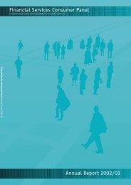 June 2003Annual Report 2002/2003 - Financial Services Consumer ...