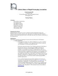 Meeting minutes - Global Alliance of Rapid Prototyping Associations ...
