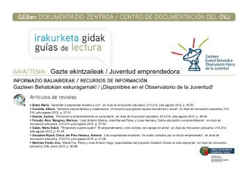 Juventud emprendedora - Gazteaukera