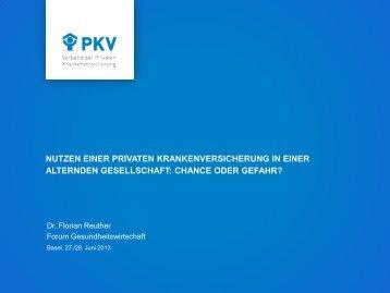 Dr. Florian Reuther - Forum Gesundheitswirtschaft Basel