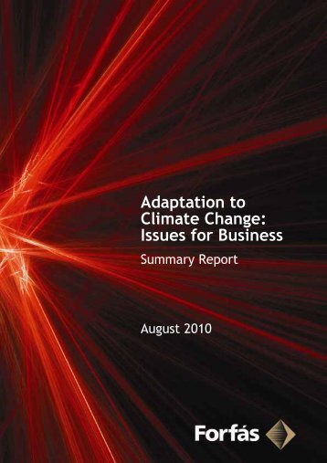 Adaptation to Climate Change: Issues for Business ... - Forfás
